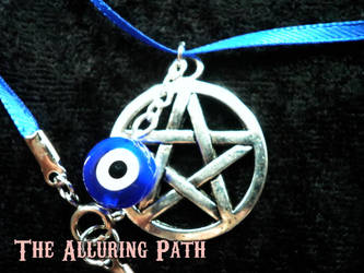 Evil Eye Protection Pentacle Necklace by TheAlluringPath