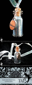 Fairy Dust Glass Bottle Necklace by TheAlluringPath