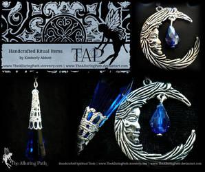 Moon Goddess Pendulum Blue Crystal by TheAlluringPath