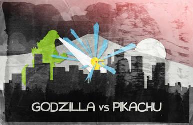 Godzilla VS Pikachu by TheAlluringPath