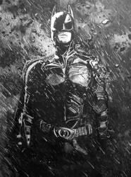 batman in charcoal by deviantartistick