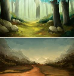 Landscape Studies I by MapleSpyder