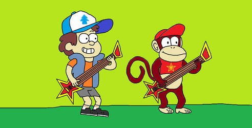 Dipper and Diddy Guitar Guzamping by KTCGartworks