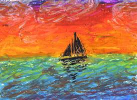 Sunse - Oil Pastel by yorksherpud