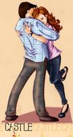 caskett hug by Lizeeeee