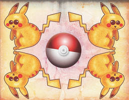 pikachuuuuuuuuus and a pokeball by Lizeeeee