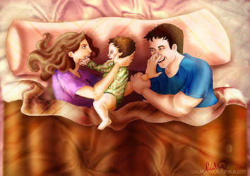 castle, beckett and a baby by Lizeeeee