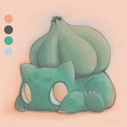 Bulbasaur Paint Test Practice by ErbyDraws