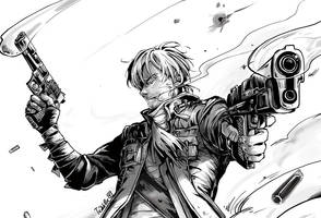 Sanji the Cowboy @ One Piece by teddibe