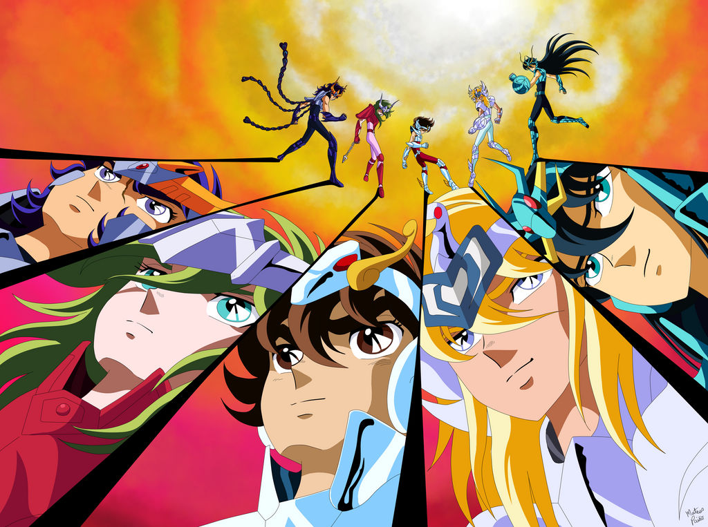 Saint Seiya - Project Remake 03 (without gradient) by mateuspaiao