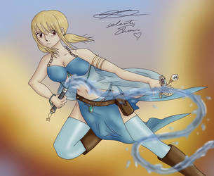 Lucy Heartfilia Fight by selenityshiroi