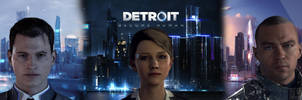 Detroit Become Human - Dual Wallpaper by IzzyVikingWolf