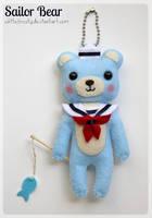 Sailor Bear Plush Keychain by whitefrosty