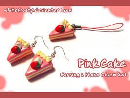 Pink Cake Set by whitefrosty