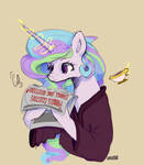 Celest_reading_her_own_gossip_after_waking_up.jpg by IceCreamSandwich12
