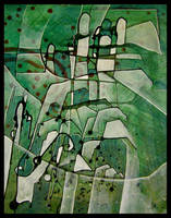 green abstractos tos by santosam81