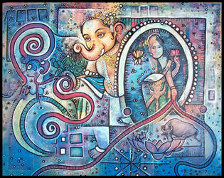 jai ganesh , blue by santosam81