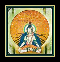 shiva circle meditate square by santosam81