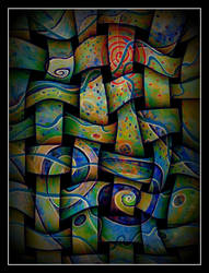 oldpaintingrevisited abstract textile by santosam81