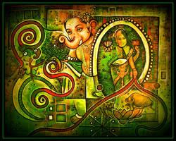 ganesh , green by santosam81