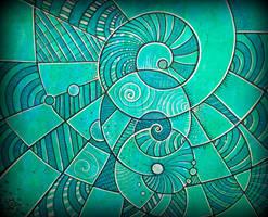 111 spiral in blue green rnstd by santosam81