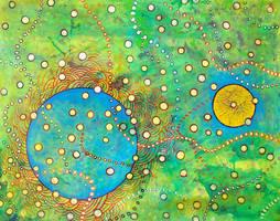 blue planet , sun , green cosmos by santosam81