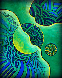 abstractobluegreen by santosam81