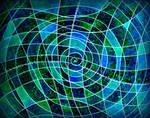 spiral mix digitally inverted blue by santosam81