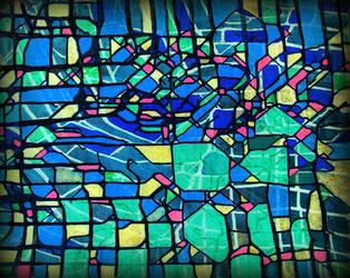 digital blue inverted by santosam81