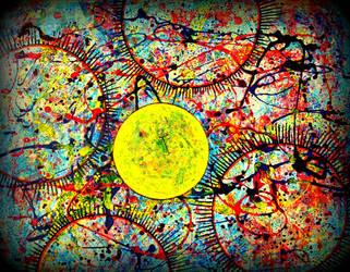 sun in pollock cosmos by santosam81