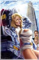 Powergirl, brand new version by J-Estacado