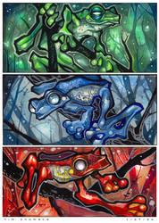 Anime Frogs by telegrafixs