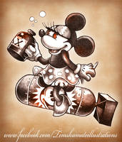 BOMBS AWAY MINNIE by telegrafixs