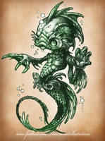 CREATURE FROM THE BLACK LAGOON by telegrafixs