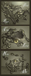 Contrasting Frogs by telegrafixs
