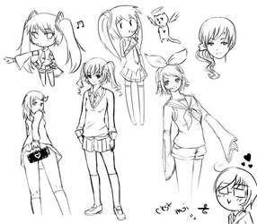 My First Ever Small Sketch Dump! by Kimsha235