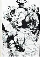 Hellboy Batman by TheAdrianNelson