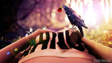 Raven Love by cobraromania