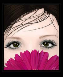 Behind a flower by kaarolcia