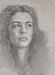 Andjela, graphite by ValentinoRadman