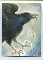 ACEO - Raven by Gawarin