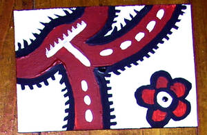 Back of White Trypillian ACEO by mintdawn