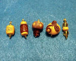 Autumn Jewels Charms by mintdawn