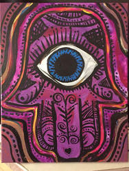 Hamsa Hand Pink by mintdawn