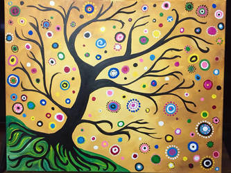 Bohemian abstract tree by mintdawn