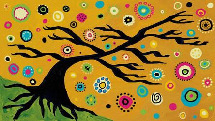 Digital Bohemian Tree by mintdawn