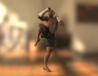 Muai Thai Fighter - Zbrush  Anatomy Study by ThereminStudio