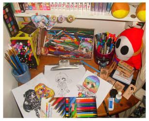 .+My Work Desk+ by Lettelira