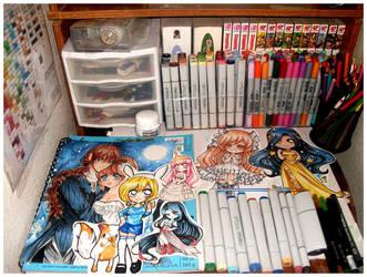 My Mini Chibi Work Desk by Lettelira