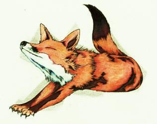 Cute fox by sega-uranus